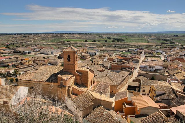 4th place: Panoramic view of Lanaja (Huesca).