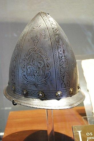 Spanish conquest of Nicaragua - 16th-century Spanish helmet