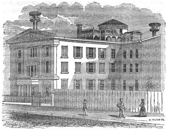 Central High School (Philadelphia) - Central High School, first location, 1852