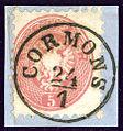 1864 Cormons 5kr Kü I.jpg