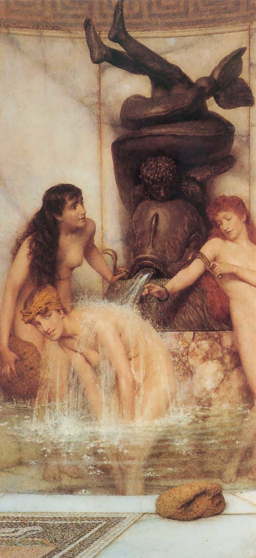 1879 Lawrence Alma-Tadema - Strigils and sponges