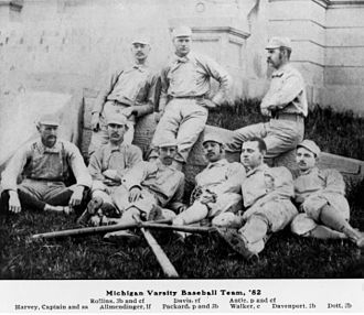 Michigan Wolverines baseball - 1882 Michigan baseball team with Moses Fleetwood Walker.