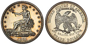 Trade dollar (United States coin) - Image: 1884 T$1 Trade Dollar (Judd 1732)