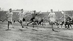 1912 Athletics men's 100 metre final3.JPG