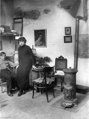 Pablo Gargallo - Pablo and Magali Gargallo, 1913, 45 rue Blomet à Paris