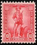 """1942 """"MInuteman"""" US War Savings rose red 10¢ stamp.jpg"""