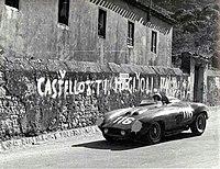 Robert Manzon's and Eugenio Castellotti's Ferrari 860 Monza at the 1955 Targa Florio