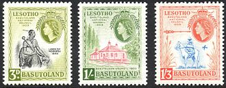 1959 stamps for the Basutoland National Council 1959 Basutoland National Council stamps.jpg