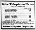 1959 Bremen, Indiana, telephone subscription rates.jpg