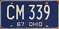 1967 Ohio license plate.JPG