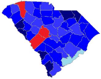 United States presidential election in South Carolina, 1976 - Image: 1976 SC Elections