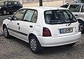 1998 Toyota Starlet 1.3 (EP91), rear left.jpg