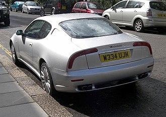 Maserati 3200 GT - Image: 1999 Maserati 3200 GT silver rear
