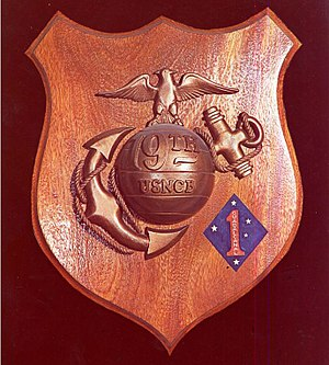 17th Marine Regiment (United States) - 19th Naval Construction Battalion Plaque.  The battalion was assigned first to the 1st Marine Amphibious Corps and then was redesignated 3rd Battalion 17th Marines / 1st Marine Division. . .  Seabee Museum