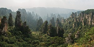 Hunan - Wulingyuan features thousands of quartzite sandstone peaks.