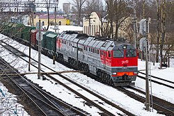 2ТЭ116У-0113, Россия, Псковская область, станция Пыталово (Trainpix 56402).jpg