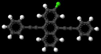 2-Chloro-9,10-bis(phenylethynyl)anthracene - Image: 2 Chloro 9,10 bis(phenylethynyl)an thracene 3D balls