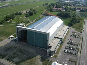 Friedrichshafen Airport - Airship hangar at the airport