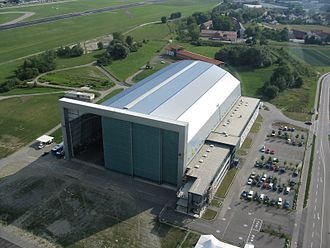 Friedrichshafen Airport - Airship hangar at the airport