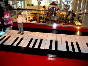 Floor piano at FAO Schwarz, NYC