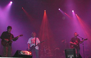Music of the United Kingdom (1980s) - New Order performing live in 2005.