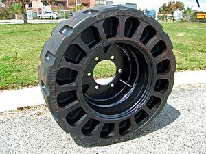 Airless tire - 12-16.5 Mk1 Croc Tyre with rim center fitted