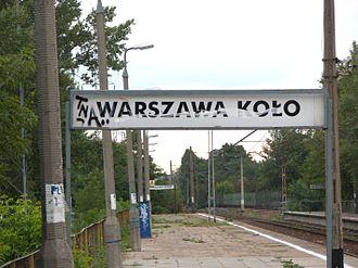 Warszawa Koło railway station - Image: 2007 09 02 Dworzec PKP Warszawa Kolo 1