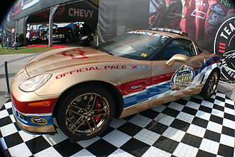 2008 Daytona 500 - Image: 2008 Chevy Corvette Daytona 500 pace car