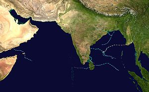 Timeline of the 2008 North Indian Ocean cyclone season - Track map of all storms during the season.