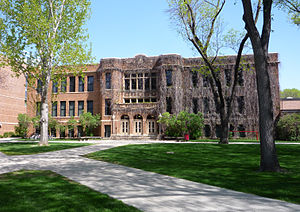Moorhead, Minnesota - Weld Hall on the campus of Minnesota State University Moorhead