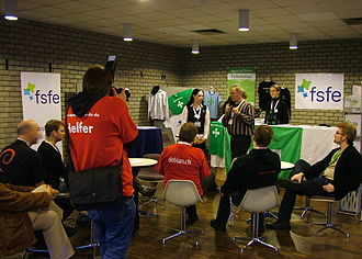 Free Software Foundation Europe - FSFE representatives at the OpenRheinRuhr, Bottrop (Germany)