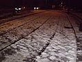 2012-02-04 Snow on tram tracks in Rome.JPG