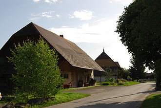 Gurbrü - Farmhouses and fields in Gurbrü