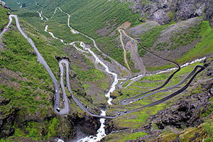 Rauma, Norway - View of the Trollstigen road