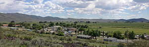 Owyhee, Nevada - Image: 2013 06 16 15 10 39 View of central Owyhee in Nevada from the north