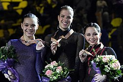 2013 European Championships Ladies Podium.jpg