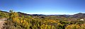 2014-10-04 13 35 06 Panorama of Aspens during autumn leaf coloration along Charleston-Jarbidge Road (Elko County Route 748) in Copper Basin about 8.8 miles north of Charleston, Nevada.jpg