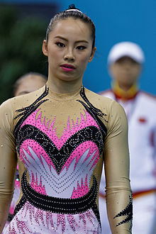 2014 Acrobatic Gymnastics World Championships - Women's pair - Qualifications - China 08.jpg