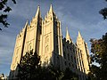 2015-09-25 18 39 05 South and west sides of the Salt Lake Temple of the Church of Jesus Christ of Latter Day Saints (Mormon Church) in Salt Lake City, Utah.jpg