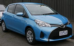 2015 Toyota Yaris (NCP130R) Ascent 5-door hatchback (2015-07-14) 01.jpg