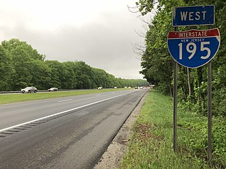 Millstone Township, New Jersey - I-195 in Millstone Township