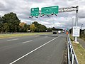 2018-10-29 13 55 17 View north along Virginia State Route 286 (Fairfax County Parkway) at the exit for Virginia State Route 267 EAST (Washington) in Reston, Fairfax County, Virginia.jpg