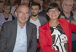 2019-09-10 SPD regional conference team Esken Walter-Borjans by OlafKosinsky MG 0461.jpg