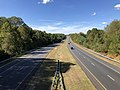 2019-10-10 14 26 33 View west along Maryland State Route 32 (Patuxent Freeway) from the overpass for Great Star Drive in Columbia, Howard County, Maryland.jpg