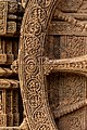 24 Chariot Wheels, illustrative intricate carving in one at the Konarka Sun Temple.jpg