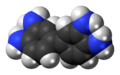 3,3'-Diaminobenzidine molecule twisted spacefill.png