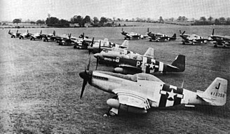 Operation Frantic - P-51 Mustangs of the 486th Fighter Squadron at RAF Debden 20 June 1944