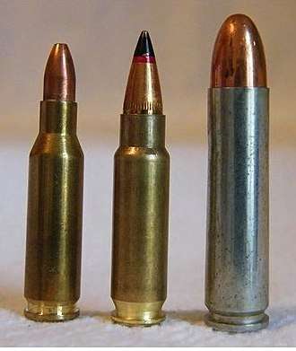 HK 4.6×30mm - Image: 4.6x 30mm, 5.7x 28mm, .30 M1 Carbine