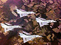 48th Fighter-Interceptor Squadron F-106 Delta Dart Four-Ship Formation.jpg