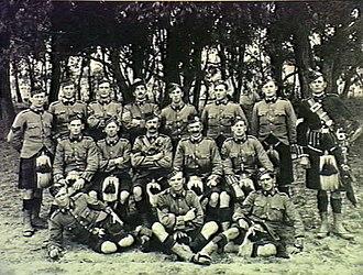 Victorian Scottish Regiment - Image: 52nd Australian Infantry Battalion (Victorian Scottish Regiment) 1914